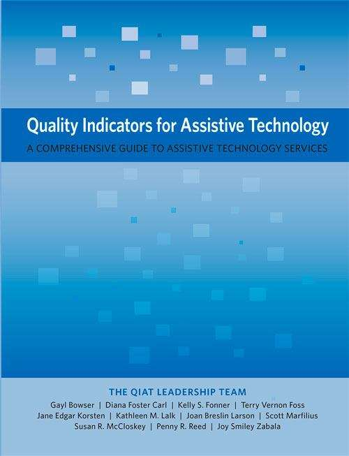 Collection sample book cover Quality Indicators For Assistive Technology: A Comprehensive Guide To Assistive Technology Services