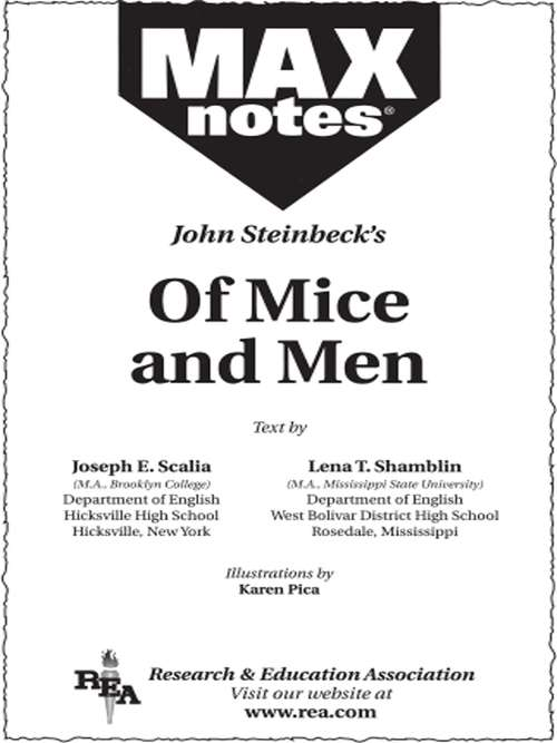mice and men reading log