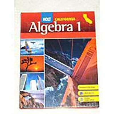 Holt Algebra 1 California
