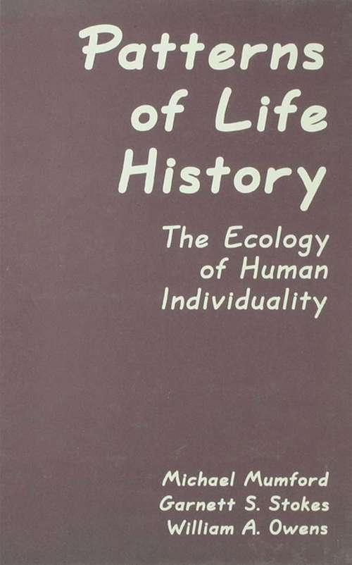 Patterns of Life History: The Ecology of Human Individuality (Applied Psychology Series)