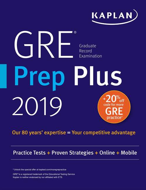 gre prep plus 2019 bookshare