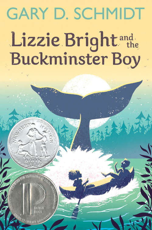 Collection sample book cover Lizzie Bright and the Buckminster Boy, two children canoeing while a whale swims underneath them