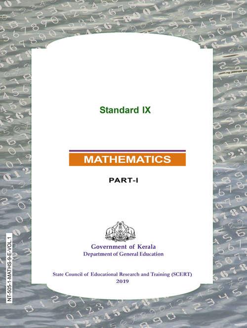Mathematics (Part-I) 9th Standard S.C.E.R.T. Kerala Board