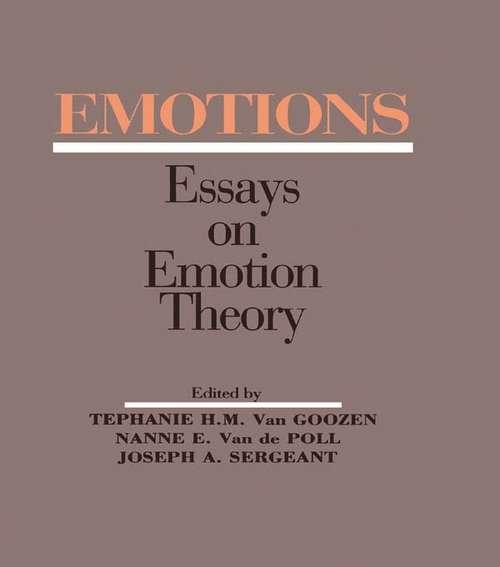 Emotions: Essays on Emotion Theory