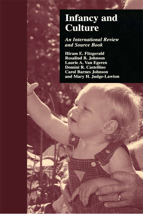 Infancy and Culture: An International Review and Source Book (Reference Books On Family Issues Ser.)
